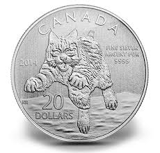 $20 for $20 Fine Silver Coin – Bobcat (2014)