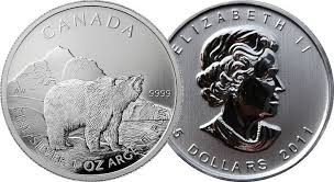 2011 1 oz Silver Canadian Wildlife Series – Grizzly
