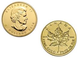 2014 1/10 oz Canadian Gold Maple Leaf