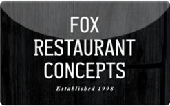 Fox Restaurant Concepts $50 Gift Card INSTANT ONECARD