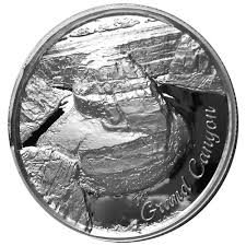 2 oz Silver Grand Canyon Ultra High Relief Round | Amer
