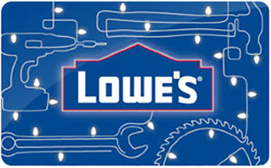 $600 Lowe's gift cards