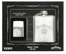 Zippo Jack Daniels Lighter and Flask Gift Set