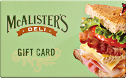 McAlister's Deli $100 Gift Card 5x$20 [INSTANT DELIVER]