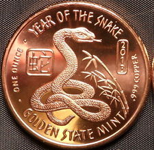 2013 Year of The Snake 1 OZ Copper Round
