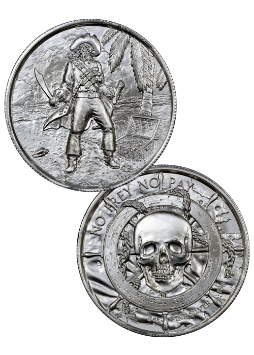 The Captain 2 oz Silver Ultra High Relief Round | Eleme