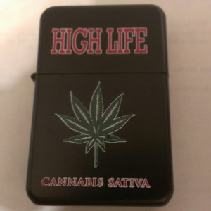 High Life Oil Lighter Red Lettering