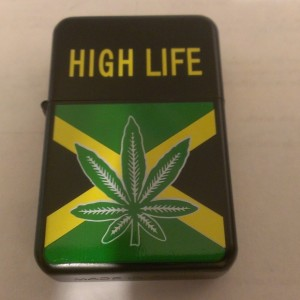 High Life Oil Lighter Yellow Lettering