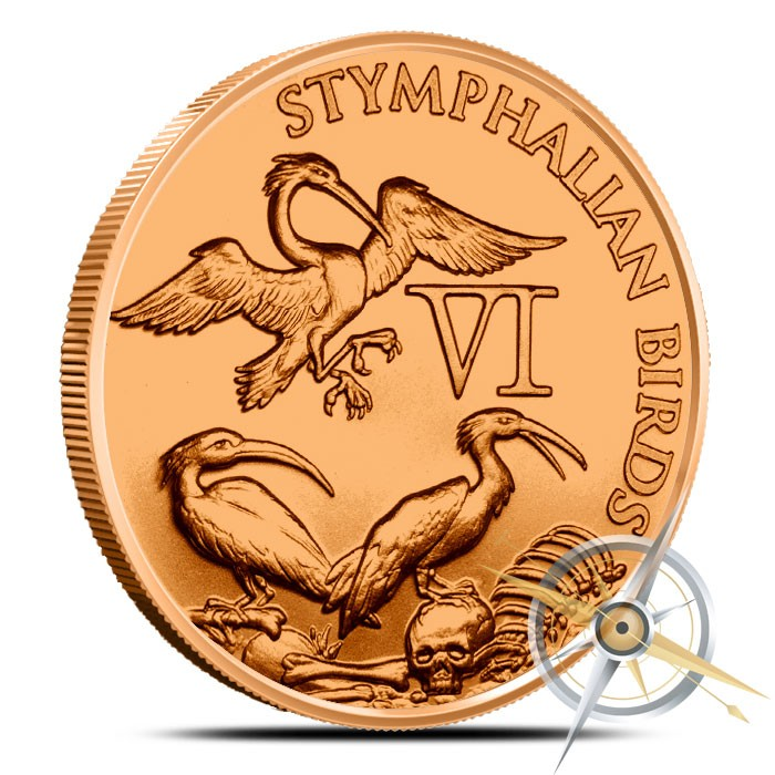 Stymphalian Birds 1 oz Copper The 12 Labors of Hercules