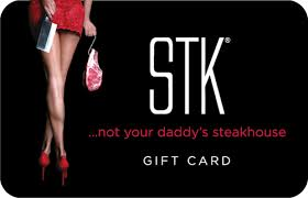 $250 STK Steakhouse Gift Card PDF ONECARD