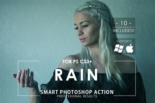 Photoshop Rain Effect Actions