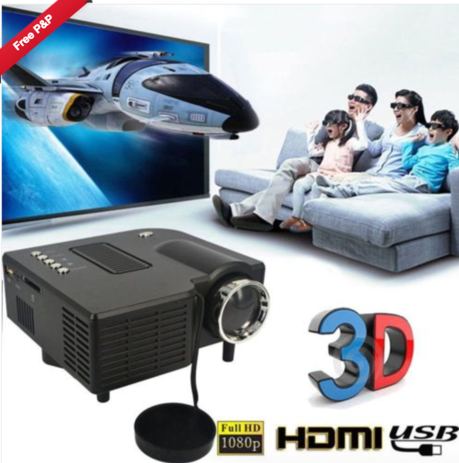 New UC28+ HD 1080P Built-in Speaker LED Projector