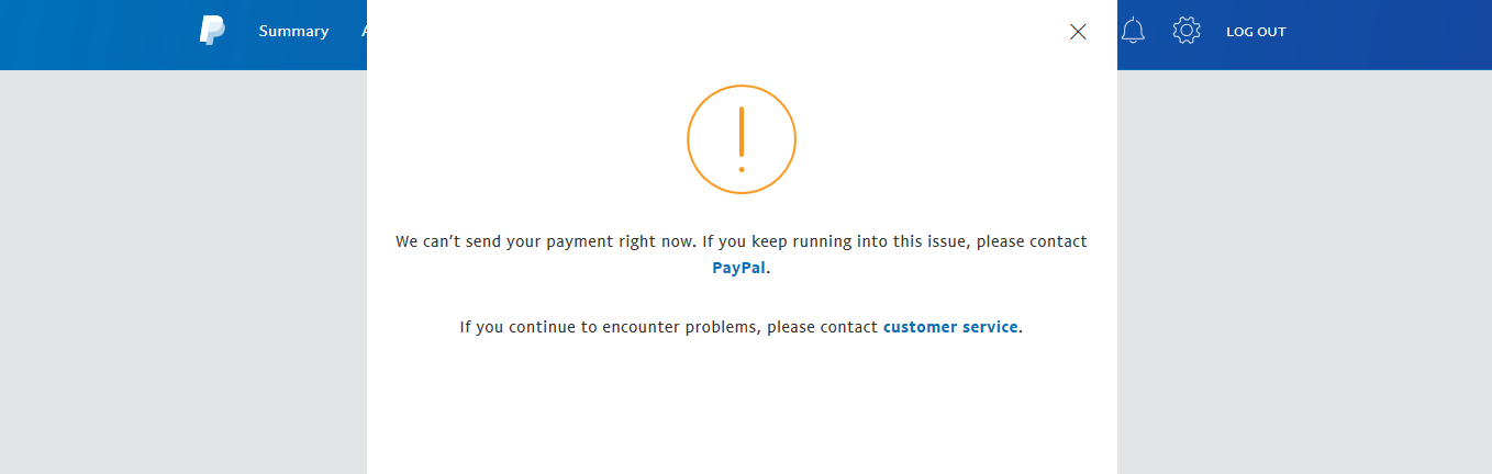BYPASS PAYPAL PAYMENT ERRORS now