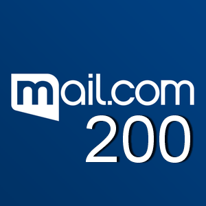 200 mail.com email account, new email