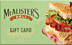 McAlister's Deli $100 Gift Card INSTANT DELIVERY 2...