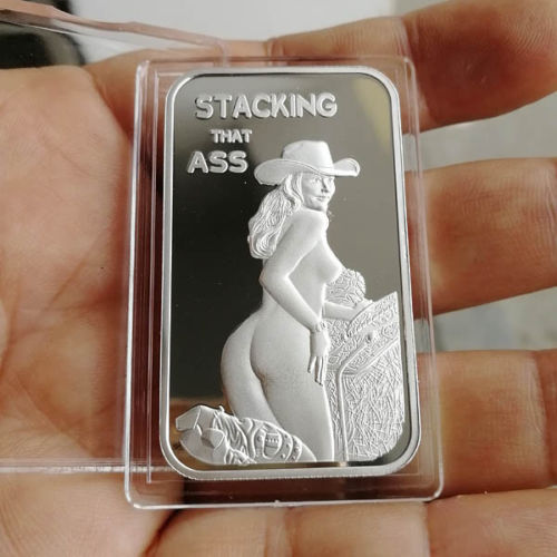 Stacking That Ass Cowgirl 1 oz .999 Fine Silver Bar