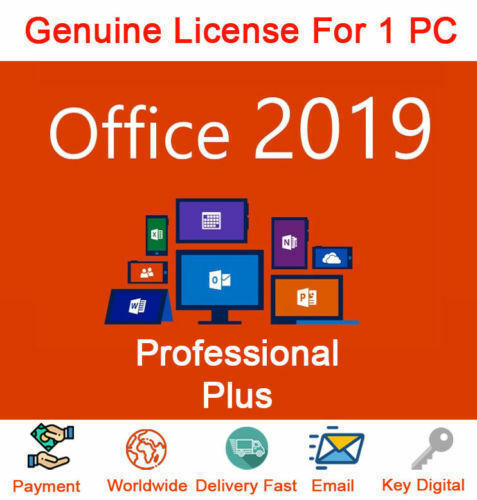 Microsoft Office 2019 Pro Plus 32/64 Bit License Key