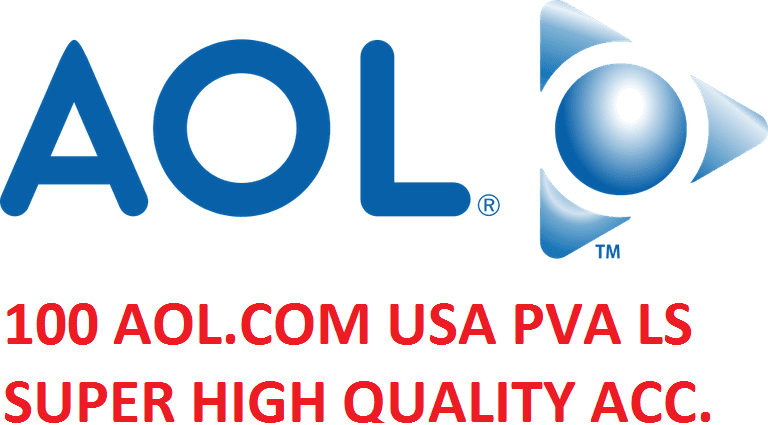 100 AOL.COM USA PVA LS SUPER HIGH QUALITY ACCOUNTS