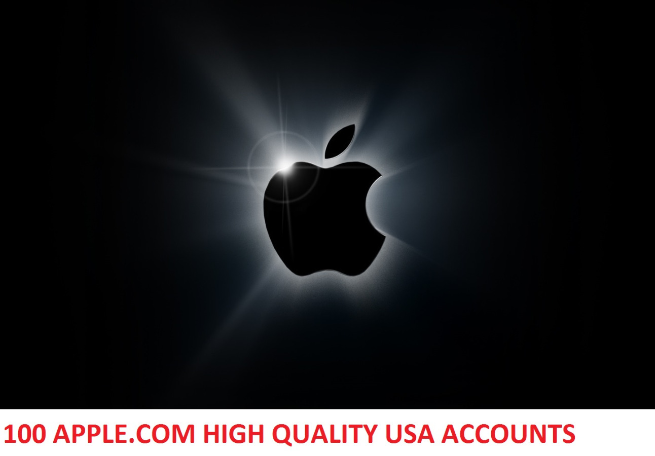 100 APPLE.COM HIGH QUALITY USA ACCOUNTS WITH FULL INFO