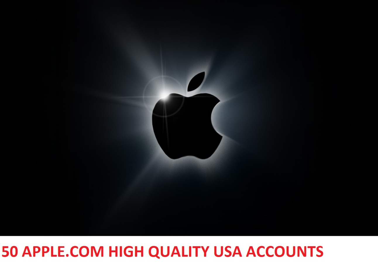 50 APPLE.COM HIGH QUALITY USA ACCOUNTS WITH FULL INFO