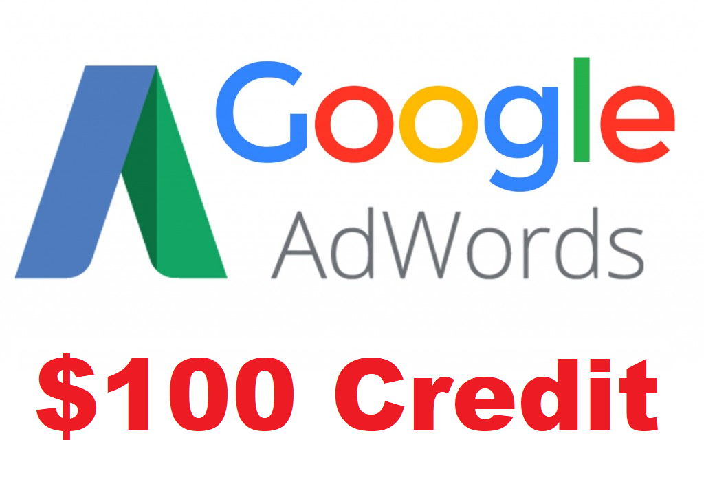 Google Adwords $100 Credit, Coupon, Gift Card, Voucher