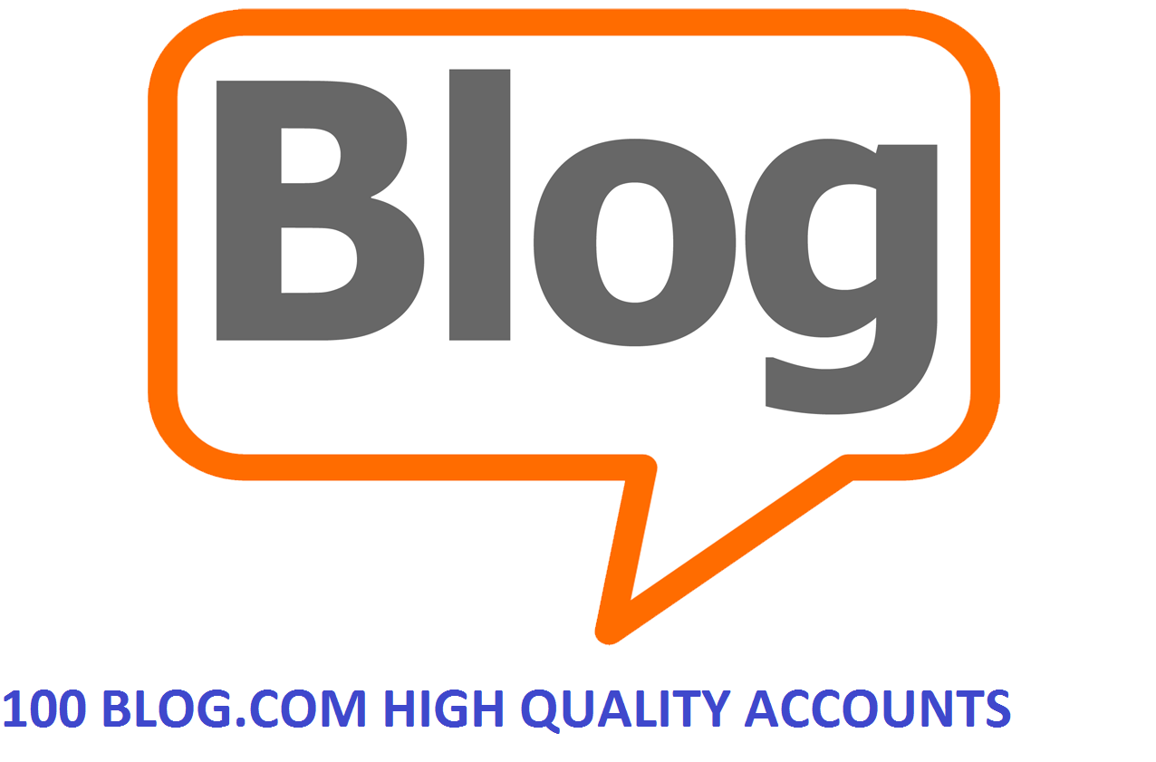 100 BLOG.COM HIGH QUALITY ACCOUNTS