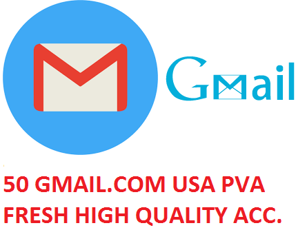 50 GMAIL.COM USA PVA FRESH HIGH QUALITY ACCOUNTS