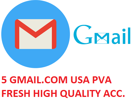 5 GMAIL.COM USA PVA FRESH HIGH QUALITY ACCOUNTS