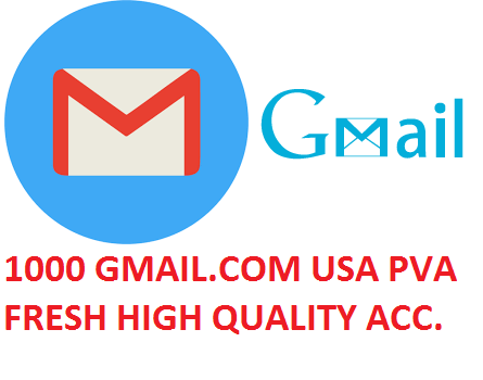 1000 GMAIL.COM USA PVA FRESH HIGH QUALITY ACCOUNTS