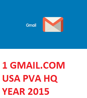 1 GMAIL.COM USA PVA HIGH QUALITY OLD ACC. - YEAR 2015