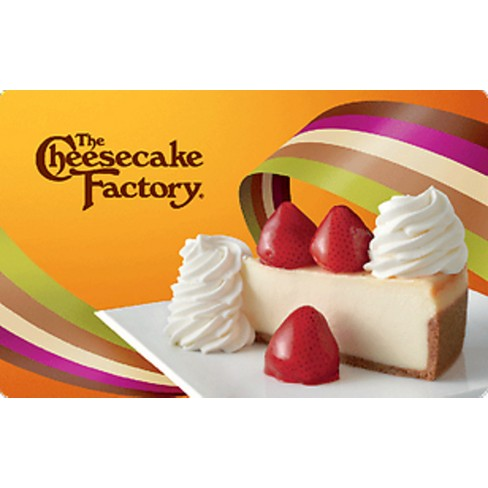 Cheesecake Factory gift card 18$