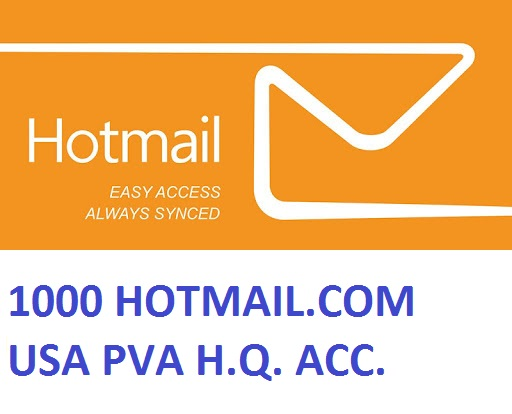 1000 HOTMAIL.COM USA PVA HIGH QUALITY ACCOUNTS