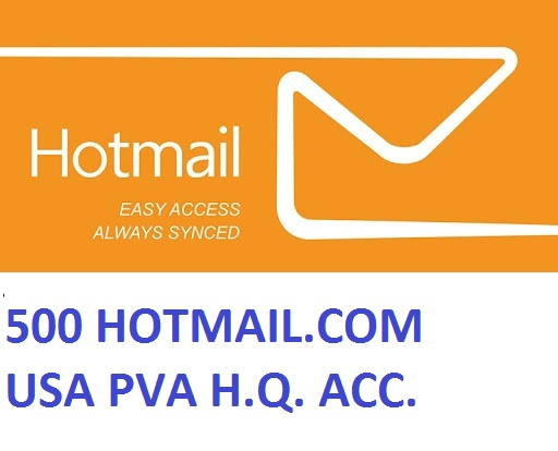 500 HOTMAIL.COM USA PVA HIGH QUALITY ACCOUNTS