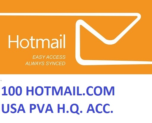 100 HOTMAIL.COM USA PVA HIGH QUALITY ACCOUNTS