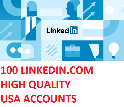 100 LINKEDIN.COM HIGH QUALITY USA ACCOUNTS