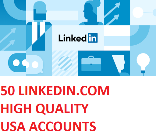 50 LINKEDIN.COM HIGH QUALITY USA ACCOUNTS