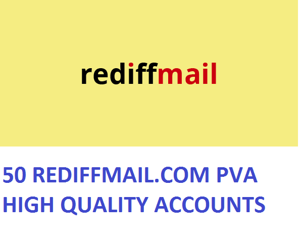 50 REDIFFMAIL.COM PVA HIGH QUALITY ACCOUNTS