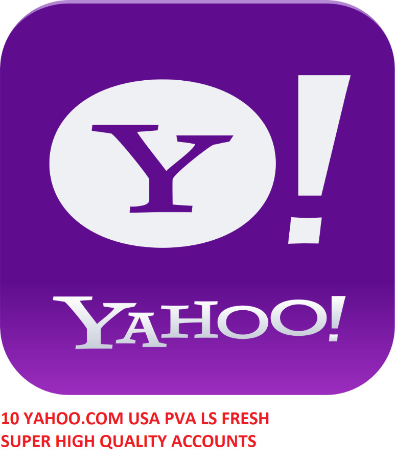 10 YAHOO.COM USA PVA LS SUPER HIGH QUALITY ACCOUNTS