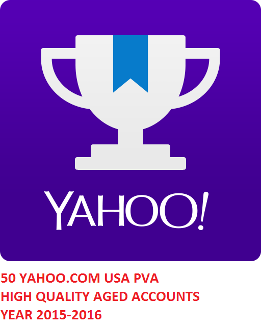 50 YAHOO.COM USA PVA HIGH QUALITY AGED ACC. YEAR 2015