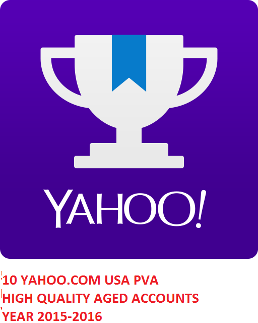 10 YAHOO.COM USA PVA HIGH QUALITY AGED ACC. YEAR 2015