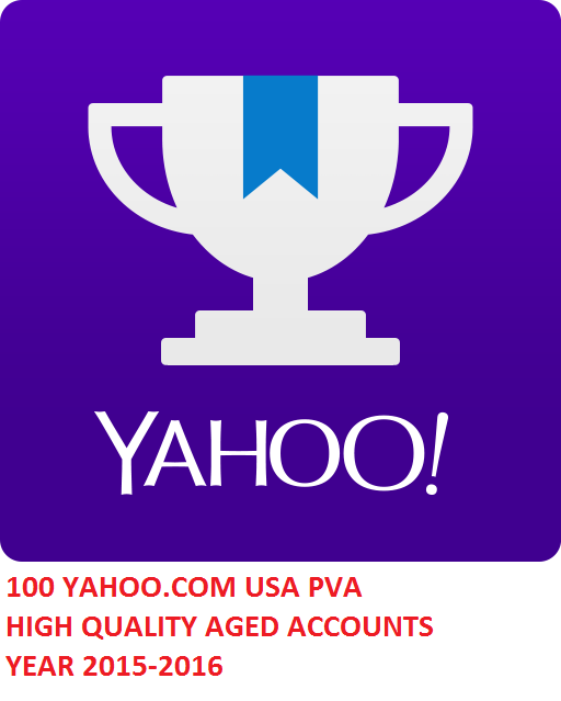 100 YAHOO.COM USA PVA HIGH QUALITY AGED ACC. YEAR 2015
