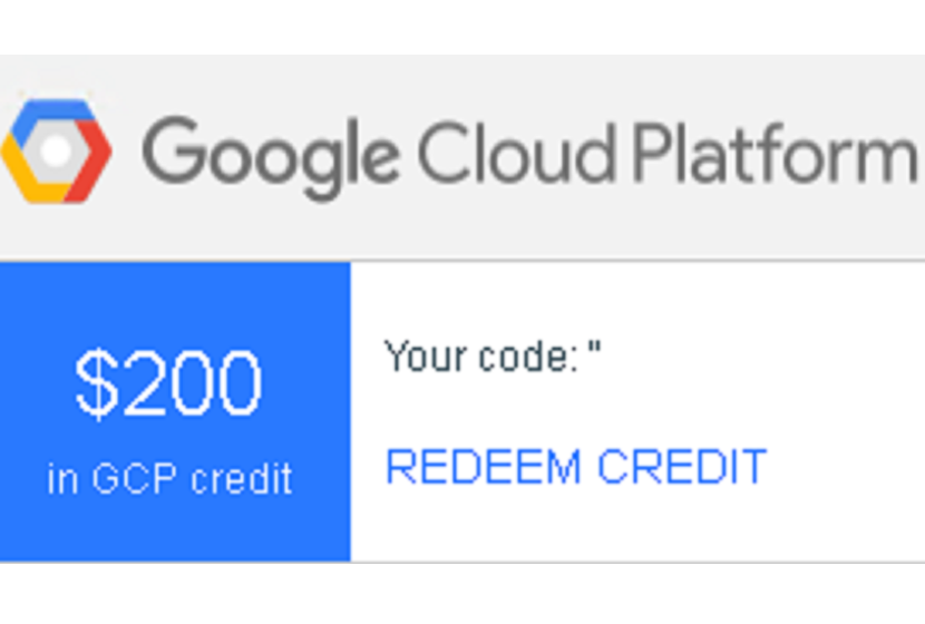 Google Cloud Platform $200 Coupon Code Credit Voucher
