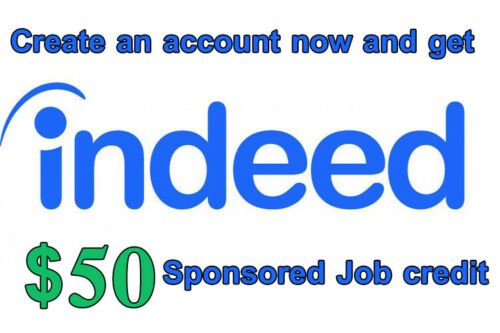 Indeed $50 Sponsored Premium Placement Job credit