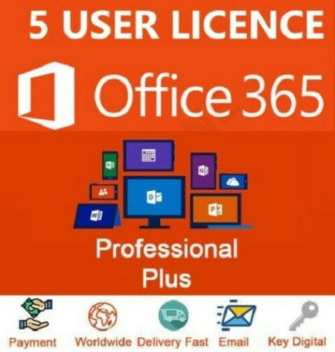 Microsoft Office 365 2016 LIFETIME + 5TB Onedrive Cloud