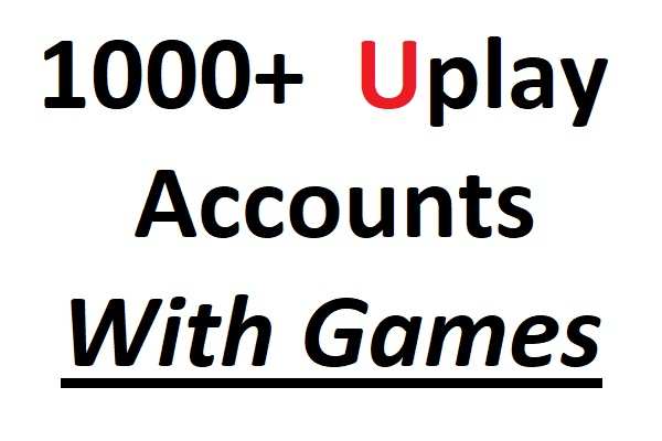 1000x Uplay Accounts With Games and Points
