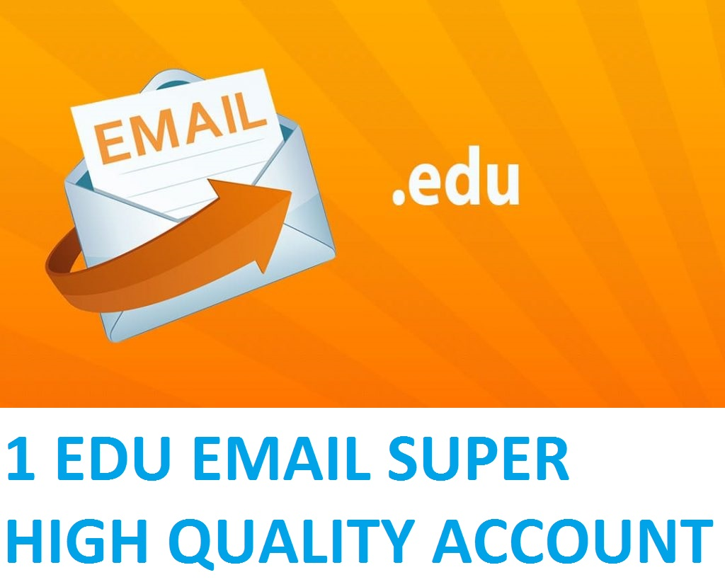 1 EDU EMAIL (STUDENT EMAIL) SUPER HIGH QUALITY ACCOUNT