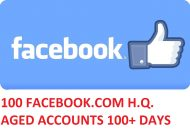 100 FACEBOOK.COM HIGH QUALITY ACCOUNTS 100DAYS+