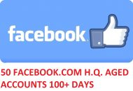 50 FACEBOOK.COM HIGH QUALITY ACCOUNTS 100DAYS+