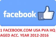 1 FACEBOOK.COM USA PVA HQ AGED ACCOUNT YEAR 2012-2016
