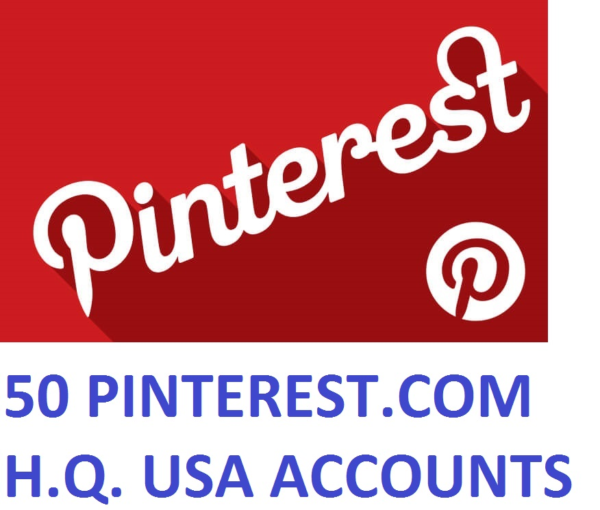 50 PINTEREST.COM USA HIGH QUALITY ACCOUNTS